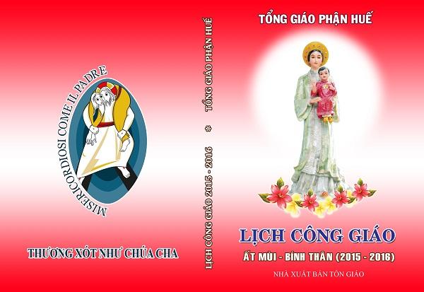 Bìa – LịchCông Giáo – photoshop – RGB – 3 màu